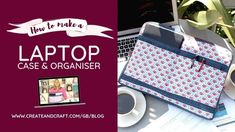 Discover how to create your own made-to-measure laptop bag that makes working on-the-move easy (and gorgeous!) with Debbie Shore's sewing tutorial. Pdf Sewing Patterns, Sewing Tutorials, Sewing Projects, Quilting Patterns, Modern Quilting, Video Tutorials, Sewing Ideas, Diy Laptop, Laptop Case