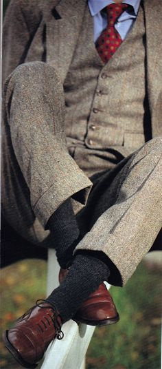 Wool socks and tweed. Donnish isn't just stylish; it's comfortable as hell.