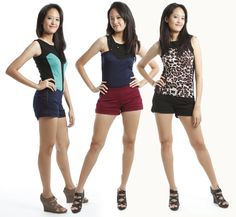 Double Zipper Shorts   from: http://iloveitsew.com  S$25