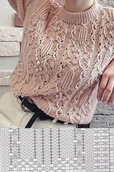 Knit Vest Pattern, Crochet Beanie Pattern, Crochet Jacket, Knit Crochet, Lace Knitting Patterns, Knitting Stitches, Knitting Designs, Baby Knitting, Knitting Needles