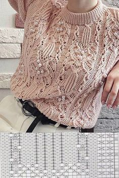 Knit Vest Pattern, Sweater Knitting Patterns, Lace Knitting, Knitting Designs, Knitting Stitches, Knit Crochet, Knitting Needles, Handgestrickte Pullover, Crochet Rug Patterns
