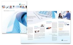 Accounting Firm Brochure Design Template by StockLayouts