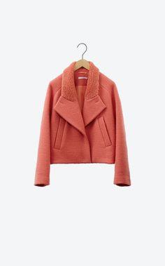 Short wool coat - carven Fashion Details, Fashion Design, Work Attire, Wool Coat, Pattern Fashion, Coats For Women, Winter Fashion, My Style, Short Coats