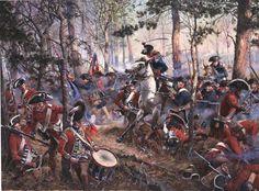 Don Troiani - Battle of Cowpens in South Carolina - January 17, 1781. The Continentals under General Dan Morgan break Col. Banastre Tarleton's line.