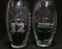 Seattle Seahawks 12th Man Football Glasses christmas gifts, birthday gifts, 12th man gifts,