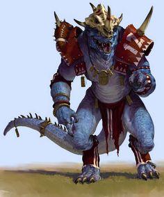 Lizardman by Karl Kopinski karlkopinski Fantasy Races, Fantasy Armor, Medieval Fantasy, Mythological Creatures, Fantasy Creatures, Mythical Creatures, Dnd Characters, Fantasy Characters, Dnd Dragonborn