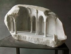 Artwork on another level - Miniature columns and pillars carved into marble by Matthew Simmonds (7)