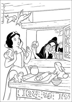 Snow White Was Given Apples Coloring Pages