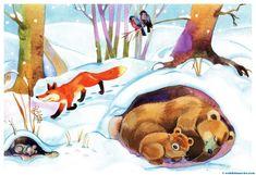 Who else winters. To children about animals and birds. Folder Games, File Folder, Forest Animals, Children's Book Illustration, Close Image, Childrens Books, Art For Kids, Dinosaur Stuffed Animal, Moose Art