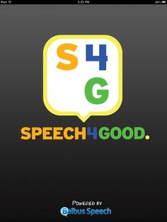 Speech 4 Good--speech visualizer (spectrogram), delayed auditory feedback, voice recording. http://www.inc.com/coolest-college-start-ups-2013/issie-lapowsky/balbus-speech-jack-mcdermott.html
