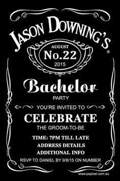 Jack Daniels Bachelor Party Digital Printable Invitation Template - Jack the…