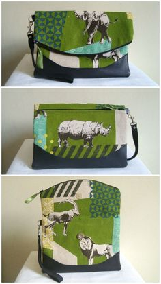 Free fold over clutch purse sewing pattern.  The Heidi bag from Swoon patterns.