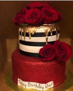 Ozel gunlerinizi emanet edin, Siz isteyin biz yaradaq💜 If you want incredible and tasty cake or sweets say us, we made u dear❤️❤️❤️ e Beautiful Birthday Cakes, Beautiful Cakes, Amazing Cakes, Elegant Birthday Cakes, Beautiful Gorgeous, Fancy Cakes, Cute Cakes, Pretty Cakes, Bling Cakes