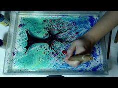 Рисование красками на воде, турецкая техника Эбру. - YouTube