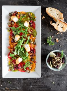 Buntes Tomaten-Carpaccio