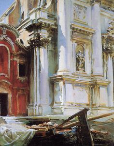 My Love Italy, oldpaintings:   Church of San Stae, Venice, 1913...Church of San Stae, Venice, 1913 by John Singer Sargent (American, 1856–1925)