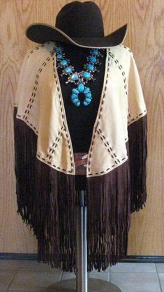 Leather fringe cape from Wild Instincts