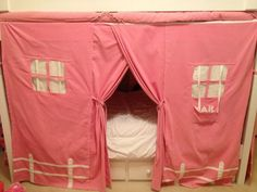 Bunk bed tent! Needs to be blue! & How to Make a Bottom Bunk Bed Tent (inspired by homemadebyjillu0027s ...