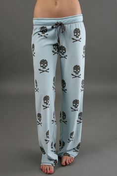 The Skull Pajama Pant in Blue by P.J. Salvage at CoutureCandy.com