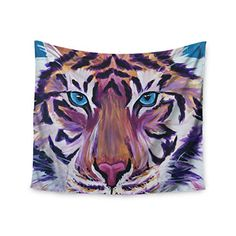 KESS InHouse Brienne Jepkema Purple Tiger Orange White Wall Tapestry 51 X 60 ** Click image to review more details.