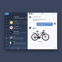 Design chat by @flat.studio #design #webdesign #concept #ui #ux #uidesign…