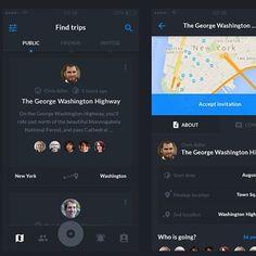 Dark UI for older app #ux #ui #design #mobile #startup #agency #digital #team #inspiration