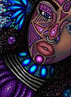 Best 11 DIY Diamond Painting woman fantasy Home Decor Full Drill Nation Picture Of Rhinestone Mosaic Dia – SkillOfKing. African Drawings, African Art Paintings, Black Love Art, Black Girl Art, Black Art Pictures, Black Artwork, Magic Art, 5d Diamond Painting, African American Art