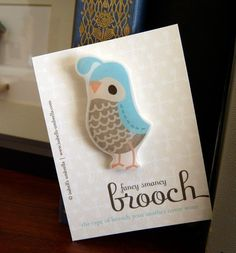 How cute!  Fancy Brooch  QUAIL by isabellsumbrella on Etsy, $10.00