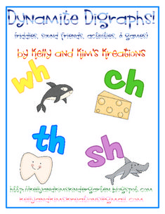 Dynamite Digraphs is a fun activity pack to provide practice with the /ch/, /sh/, /th/, and /wh/ digraphs. This pack contains riddles for items that include the digraphs in the word, digraph sound friends, and materials and ideas for several activities and games to practice identifying the correct digraph for the adorable clipart included. This pack is great for kindergarten through second grade students or any other students needing practice with digraphs.