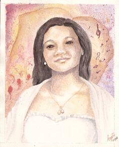 Retrato. Acuarela. Mona Lisa, Artwork, Painting, Portraits, Illustrations, Art, Work Of Art, Auguste Rodin Artwork, Painting Art