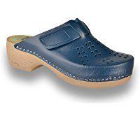 LEON PU161 Zuecos Zapatos Zapatillas de Cuero para Mujer Clogs Shoes, Walk On, Slip On Shoes, Crocs, Designer Shoes, Me Too Shoes, Stylish, Heels, Clogs