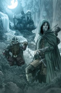 Aragorn, Legolas and Gimli #lotr