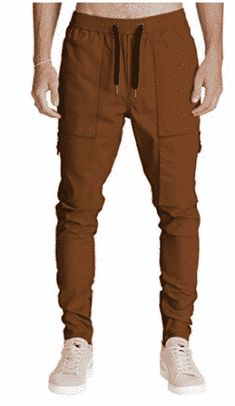 Italy Morn Men Chino Cargo Jogger Pants Casual Sweatpants Twill Khakis Slim fit L Camel - FrenzyStyle Best Joggers, Chino Joggers, Jogger Shorts, Sweatpants, Fashion Pants, Fashion Men, Mens Sweatshirts, Cool Outfits, Italy