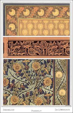 Eugene Grasset   1845 ~ 1917   selections from   La Plante et ses Applications Ornementales   1897 ~ 1900