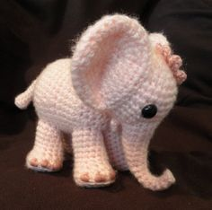 Ella the Elephant Crochet Pattern - I don't crochet but this is adorable