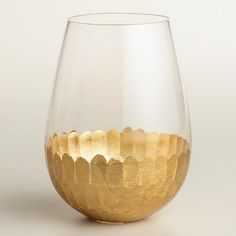 Gold stemless wine glasses set of four $23