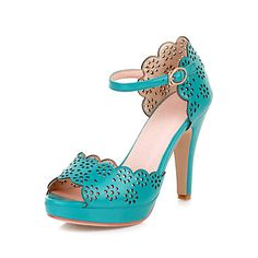 Leatherette Stiletto Heel Sandals With Hollow-out Party / Evening Shoes (More Colors) – USD $ 49.99