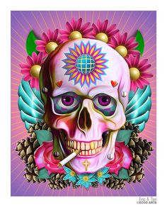 Skull Art - I forget the artists name...i'll find and add asap.