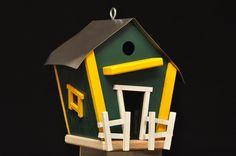 Packers theme birdhouse