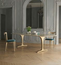 Metal Contemporary Angel Rectangular Dining Table