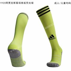 uusoccer provides cheap and quality Ajax Away Fluorescent green Thailand Soccer Socks with the information of price, image, size, style and others, easy for you to buy! Football Socks, Football Jackets, Soccer Socks, Football Fans, Football Shirts, Soccer Equipment, Kids Soccer, Team Uniforms