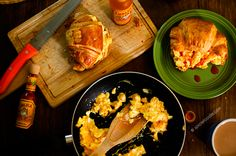 Breakfast Croissants with #HotSauce. A perfect way to start any day of the week!