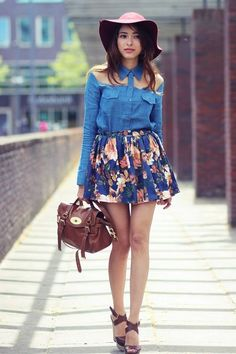 Magnolias On My Skirt by Preppy Fashionist