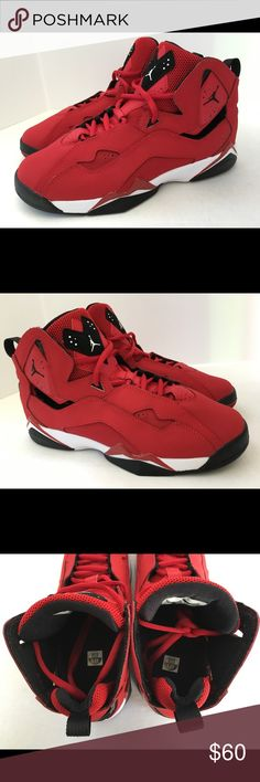 NEW NEVER WORN JORDAN TRUE FLIGHT SIZE 6.5Y NEW NEVER WORN JORDAN TRUE FLIGHT RED BLACK AND WHITE GRADE SCHOOL SNEAKERS - SIZE 6.5Y Don't have box. Air Jordan Shoes Sneakers