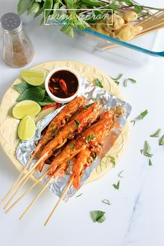 Grilled shrimp with Thai basil & spicy sauce