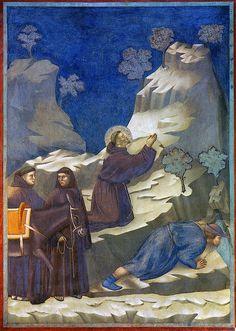 Giotto - Il miracolo della sorgente. Assisi, Basilica superiore di San Francesco (fine XIII sec)