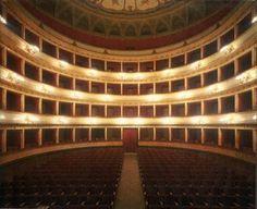 Teatro di Viterbo, Italia....I sang my first opera in here!