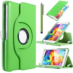 """Samsung Tab4 7.0 CASE,ULAK Case for Samsung Galaxy Tab4 7.0"""" T230 /T231/ T235 Galaxy Tab 4 Nook PU Leather 360 Rotating Stand Cover with Screen Protector + Stylus (Green) ULAK http://www.amazon.com/dp/B00NBMU07C/ref=cm_sw_r_pi_dp_6I4gub1S17AYA"""