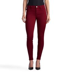 Women's Rock & Republic® Kashmiere Twill Leggings, Dark Red