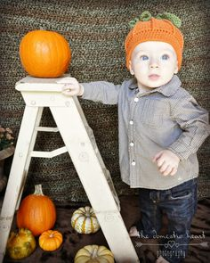 Need a step ladder for your baby picture? Go to my room at Serendipity Vintage Furnishings. I have a white one just like this one in the picture. All you need is the baby and his first pumpkin he picked out at the pumpkin patch.